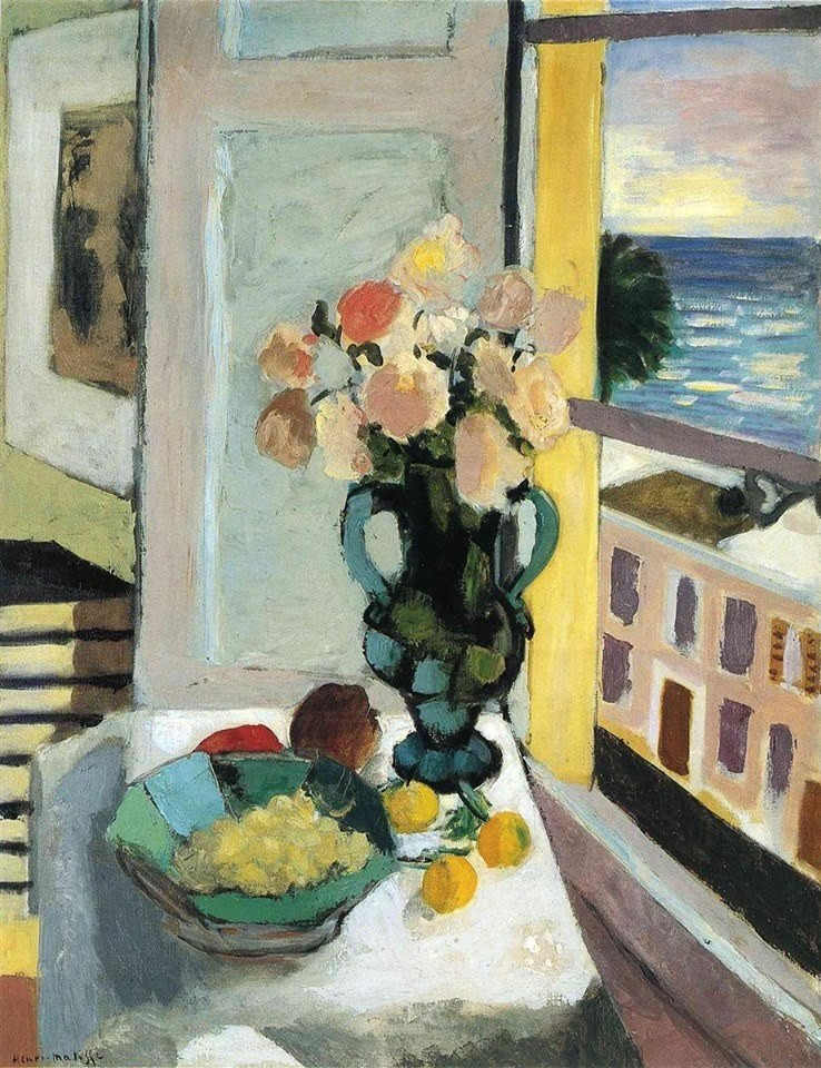 Flowers in Front of a Window, 1922